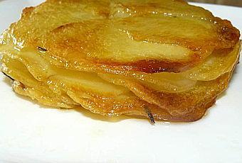 Mille feuille de pomme de terre voir - Feuille pomme de terre ...