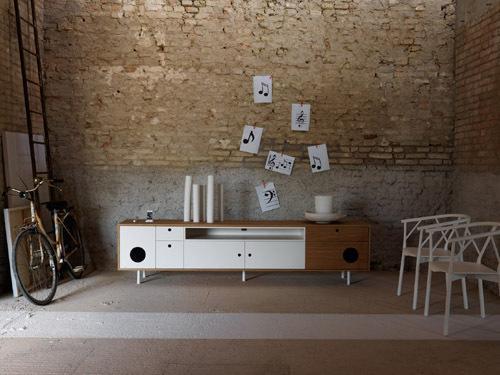 caixa le meuble 39 39 enceinte 39 39 et dock pour iphone ipod ipad voir. Black Bedroom Furniture Sets. Home Design Ideas