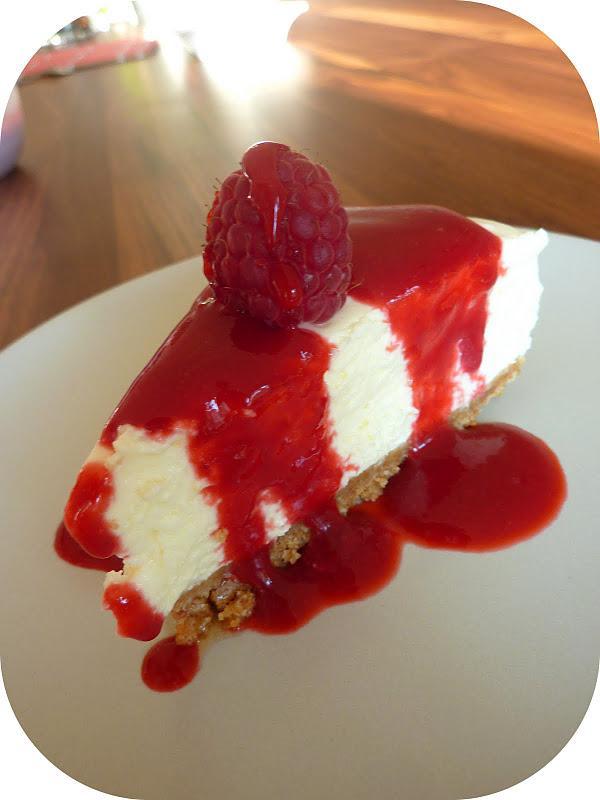Cheesecake citron sans cuisson et son coulis de framboises d couvrir - Cheesecake framboise sans cuisson ...