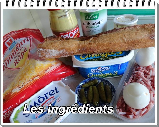 Baguette Farcie au Jambon Baguette Farcie au Jambon