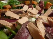 Salade d'épinards magret pour fêtes, petits aléas courses dernière minute