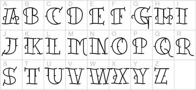 old tattoo font paperblog