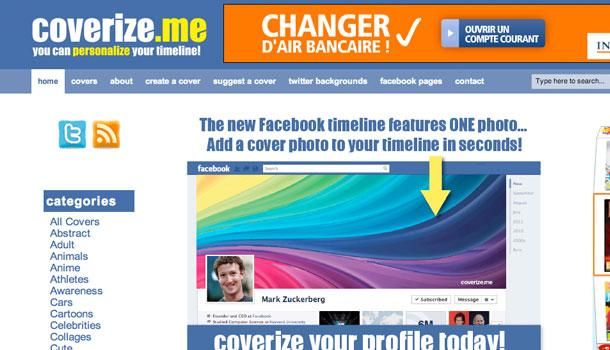coverizeme 5 sites pour une belle image de couverture Facebook