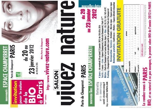 Salon vivez nature 2012 invitation gratuite paperblog for Salon e learning porte de champerret