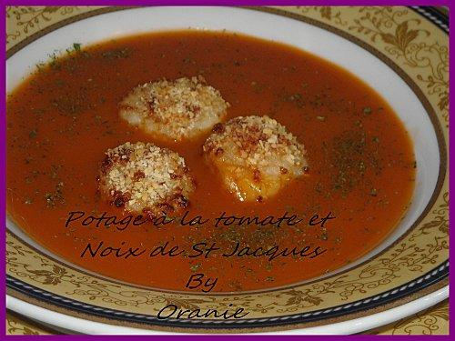 Potage a la tomate et noix de st jacques lire - Potage a la tomate maison ...