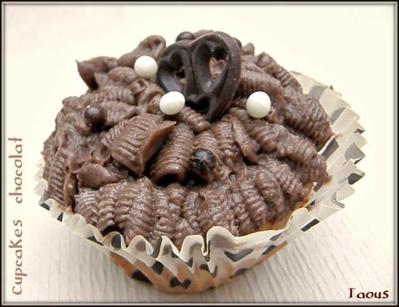 Cupcakes au chocolat blanc et cacao
