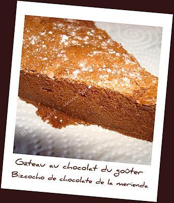 Gâteau au chocolat du goûter - Bizcocho de chocolate de la merienda