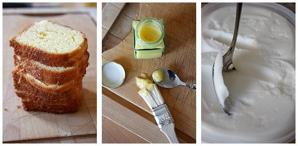 Bche So Britsh : Sorbet citron, lemon curd et pound cake