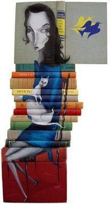 Mike Stilkey - Peintre des livres dans Peinture