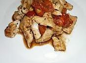 Emincé poulet vinaigre balsamique