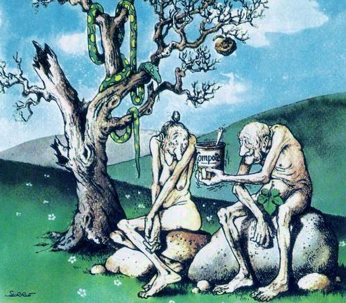 Adam et Ève vieux