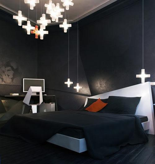 Un appartement sombre myst rieux et anguleux lire for Chambre a coucher mur noir