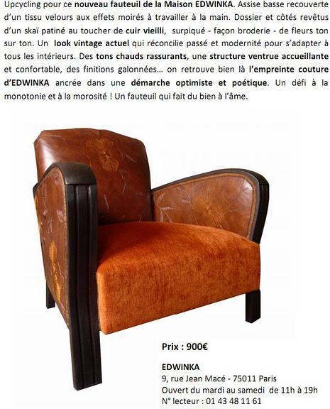 Fauteuil vintage de la maison edwinka paperblog - Fauteuil de la maison ...