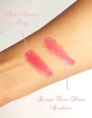 Rouge coco Shine Chanel Vs Dior Addict lipstick!