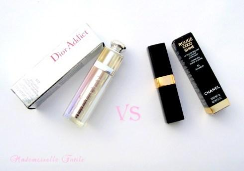 Rouge coco Shine Chanel Vs Dior Addict lipstick…!