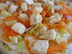 120112 salade crudités poulet vitaminée 005