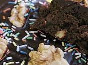 Brownies fondant chocolat ,noix noisettes