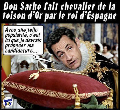 espagne nicolas sarkozy devient don sarko lire. Black Bedroom Furniture Sets. Home Design Ideas
