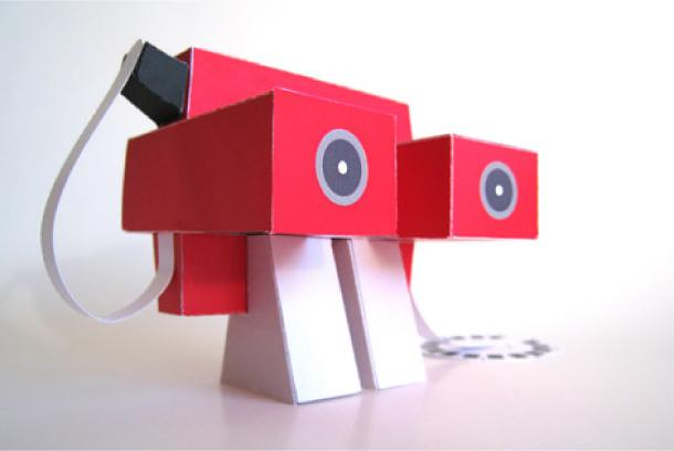 Papertoys 'Bright Red 1 et 2′