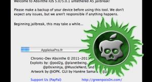 Jailbreak Absinthe : logiciel pour déverrouiller l'iPhone 4S et l'iPad 2