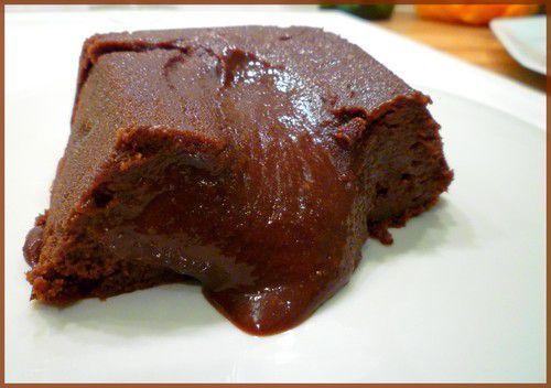 Fondant cr me de marrons et chocolat paperblog - Fondant chocolat creme de marron ...