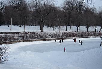 patin glace au parc la fontaine voir. Black Bedroom Furniture Sets. Home Design Ideas
