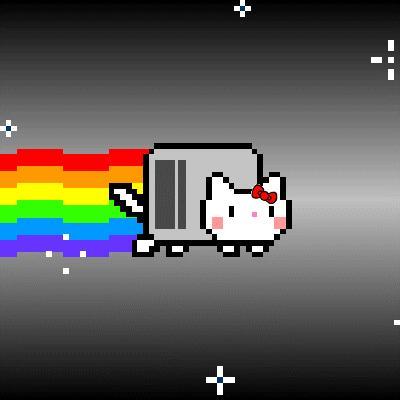 Nyan Cat Version Hello Kitty 192 D 233 Couvrir