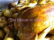 Poulet rôti citron romarin, pommes terre rôties Jamie Oliver