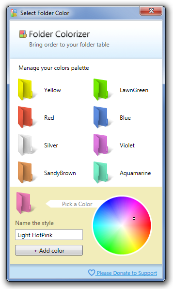 Select Folder Color