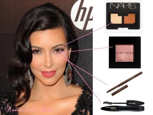 Kim kardashian le tutoriel et les produits de son sublime - Porte pinceau maquillage ...