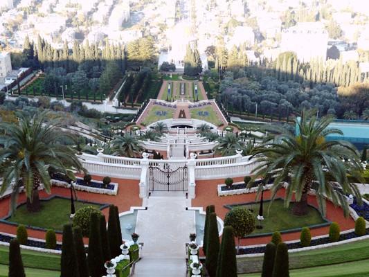 Haïfa, les jardins Bahaïs