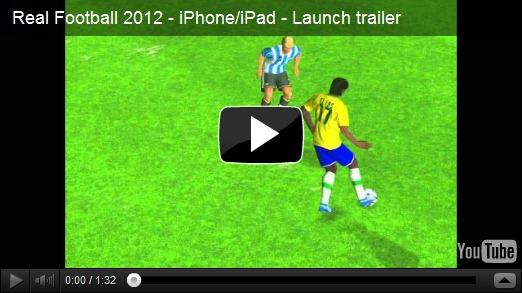 Real Football 2012, un jeu de Foot gratuit par Gameloft