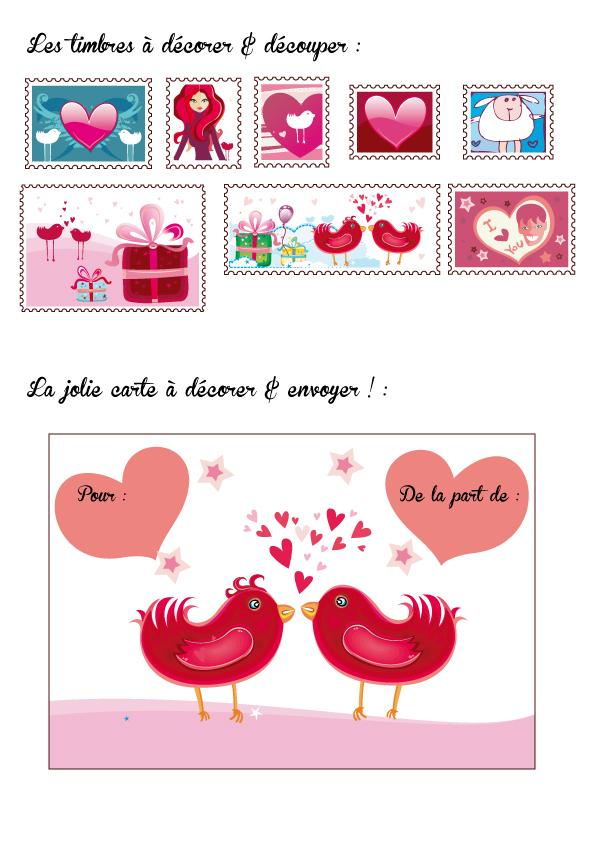 carte saint valentin by natacha birds paperblog. Black Bedroom Furniture Sets. Home Design Ideas