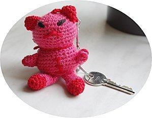 Porte cl s chat au crochet explications paperblog - Porte cle crochet ...