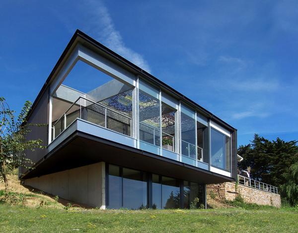 exercice d architecture sur terrain en pente voir. Black Bedroom Furniture Sets. Home Design Ideas
