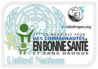 Dimanche 26 juin - soutien à la campagne de l'ONU pour une population en bonne santé et sans drogues