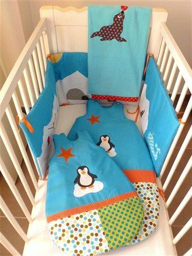 tour de lit duo de gigoteuses hiver et couverture b b th me banquise paperblog. Black Bedroom Furniture Sets. Home Design Ideas