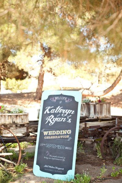 Des panneaux en bois pour un mariage paperblog for Plaque en bois pour jardin