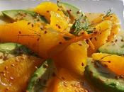 Salade d'avocat suprèmes d'orange.