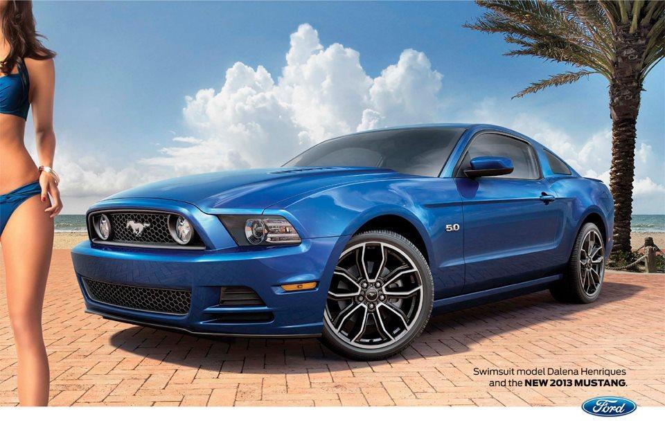 Dalena Henriques et la Ford Mustang 2013