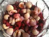 recette Litchis Salade litchis champagne