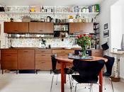 cuisine homemade pour petit apartement scandinave joliement rétro