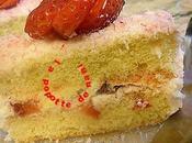 Gâteau fraises chantilly coco