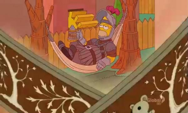Simpson Game of Thrones 600x363 Les Simpsons rendent hommage à Game of Thrones