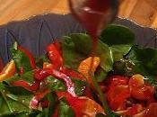 Salade bébés épinards sans façon arrosée vinaigrette porto MIss Diane