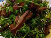 Salade pleurotes roties cresson