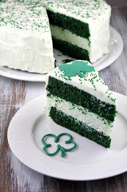 Cheesecake vert Saint patrick