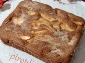Gâteau fondant pommes crème fraîche
