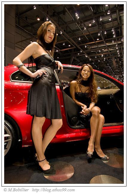 Hotesse Alfa salon auto genève 2008