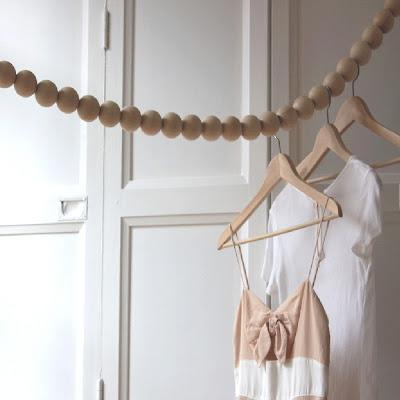 Inspiration tringle v tements en perle de bois d couvrir - Tringle a vetement ...